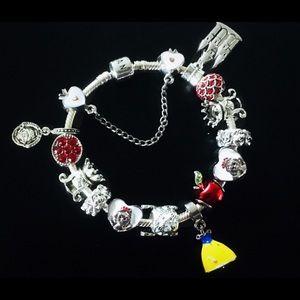 Pandora 925 Silver Snow White 7 Dwarfs Bracelet